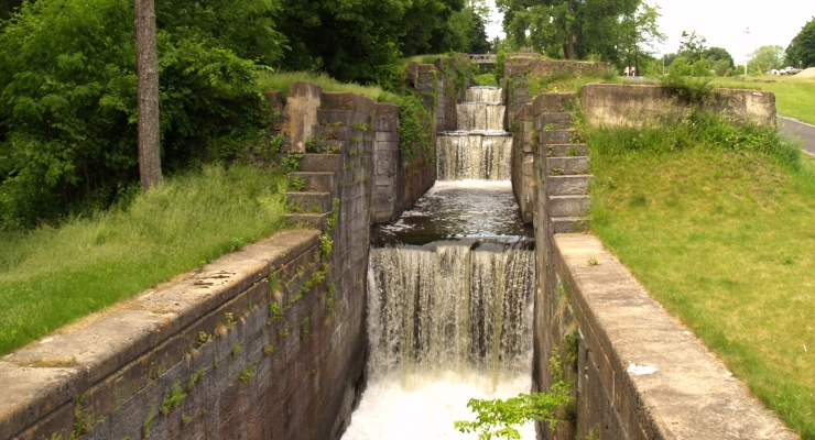 Glens Falls Feeder Canal Five Combines Locks