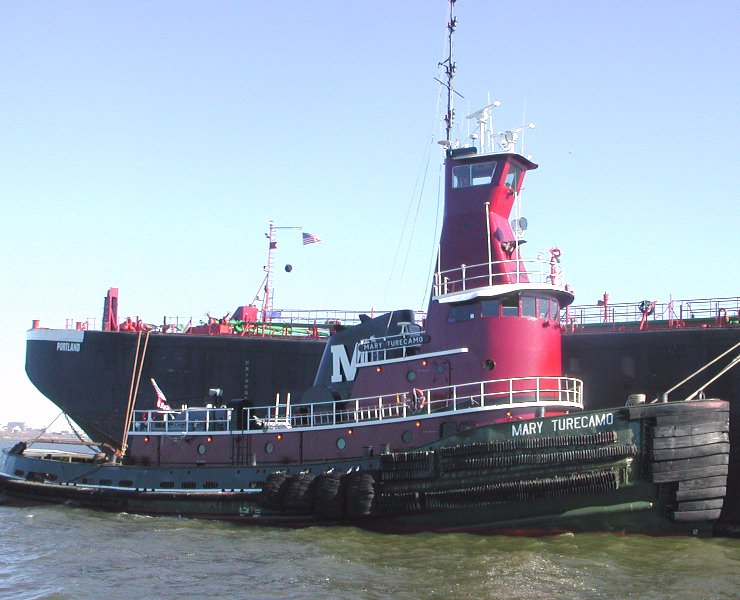 This tugboat is equipped with 3,900 horsepower and a raised pilothouse ...: www.tug44.org/tugboats.trawlers/tug-mary-turecamo